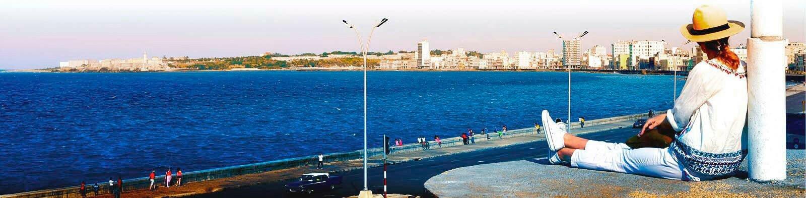 Malecón with Woman, Havana / Cuba