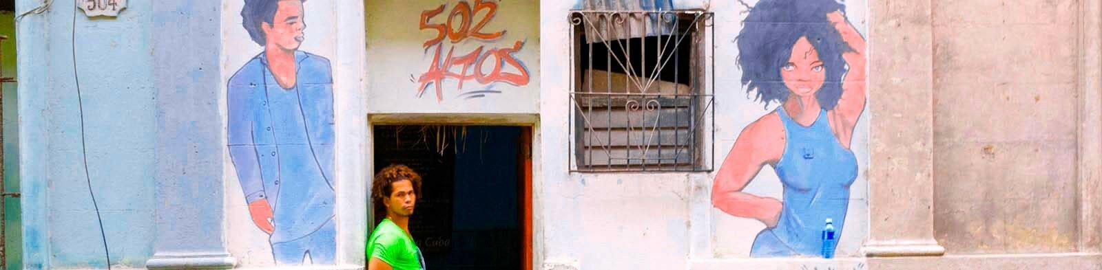Street scene in Old Havana / Cuba