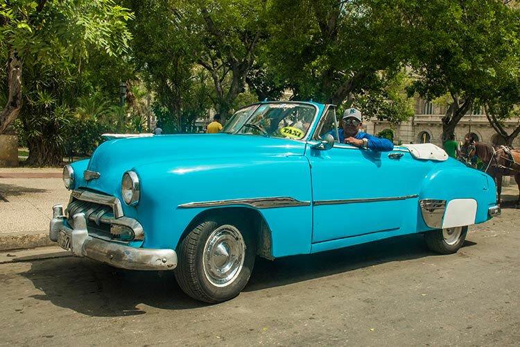 Javier City Tour invites you to breeze through the streets of Havana in a Chevrolet Deluxe Cabriolet, built in 1950. © Havana My Way, info@havanamyway.com